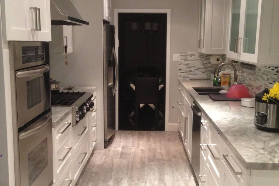 Finished Galley Kitchen Remodel Remodeling Contractors