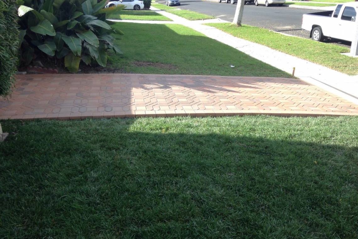New Sod And Brick Walkway Remodeling Contractors